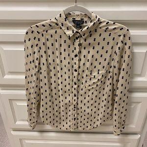 Topshop Button Down Shirt Size 0